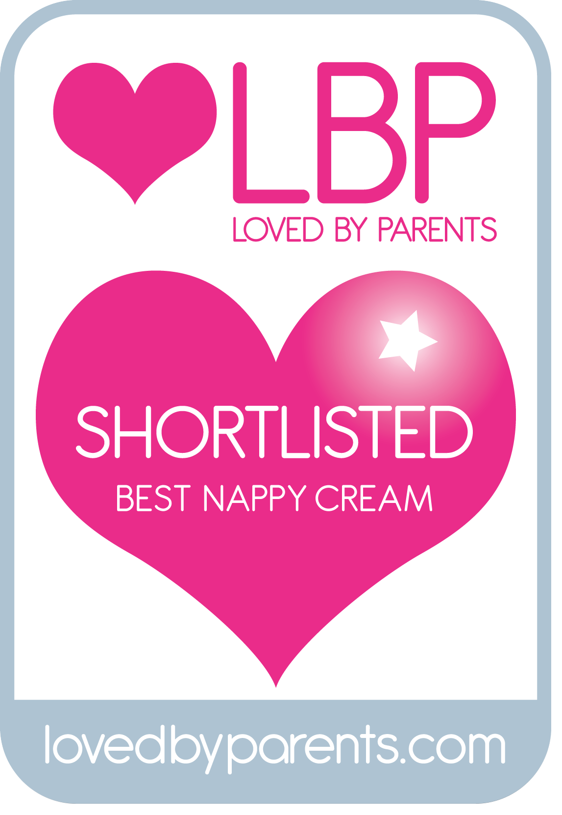 Loved By Parents, 2012 Awards - Shortlisted Best Nappy Cream