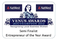 Venus Awards, 2012 - Semi Finalist, Entrepreneur of the Year Award
