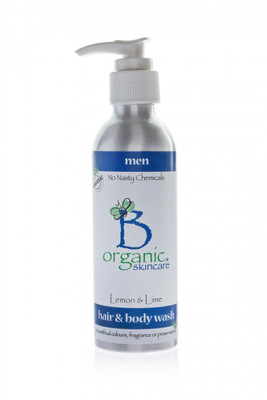 Organic Shampoo and Body Wash with Lemon and Lime for Men 150ml