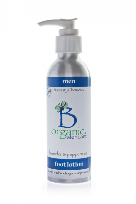 Organic Foot Lotion with Lavender and Peppermint for Men 150ml