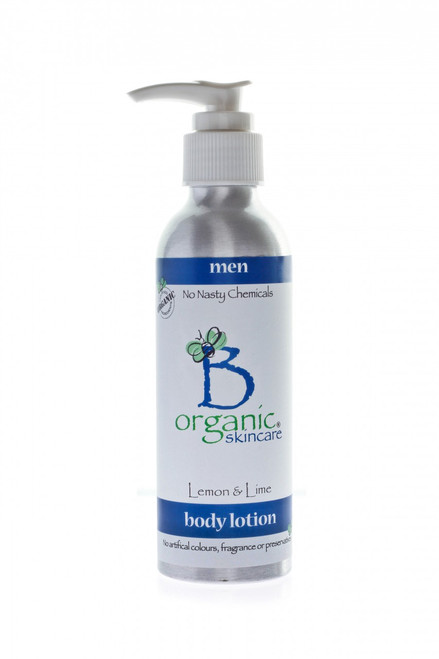 Organic Body Lotion with Lemon and Lime for Men 150ml
