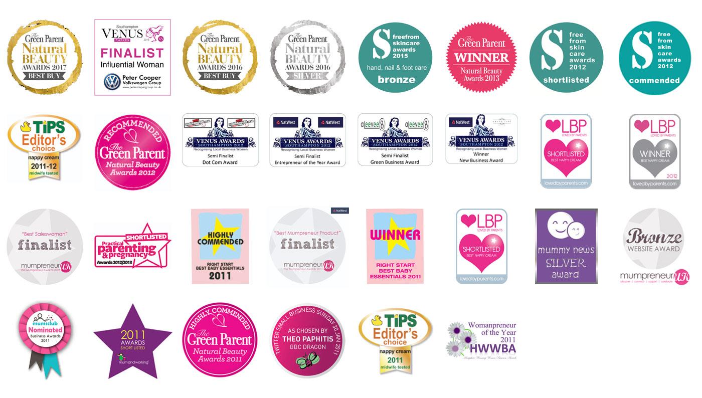 B Organic Skincare Awards