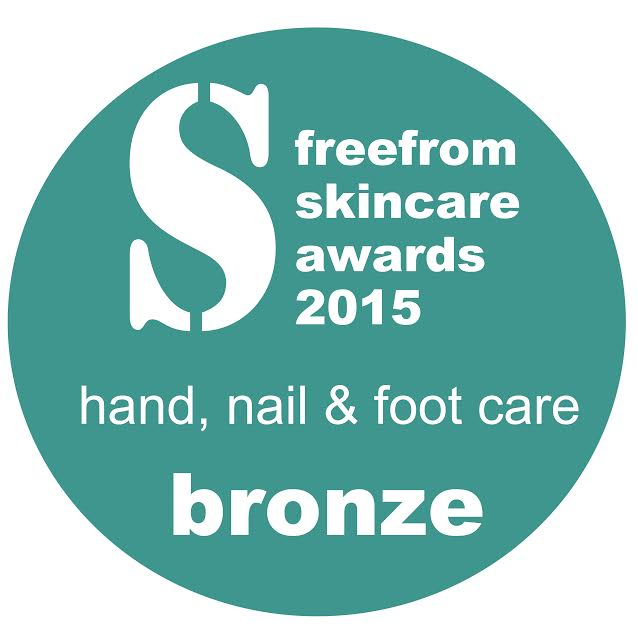 Free From Skincare Awards - Hand, Nail and Footcare Bronze 2015