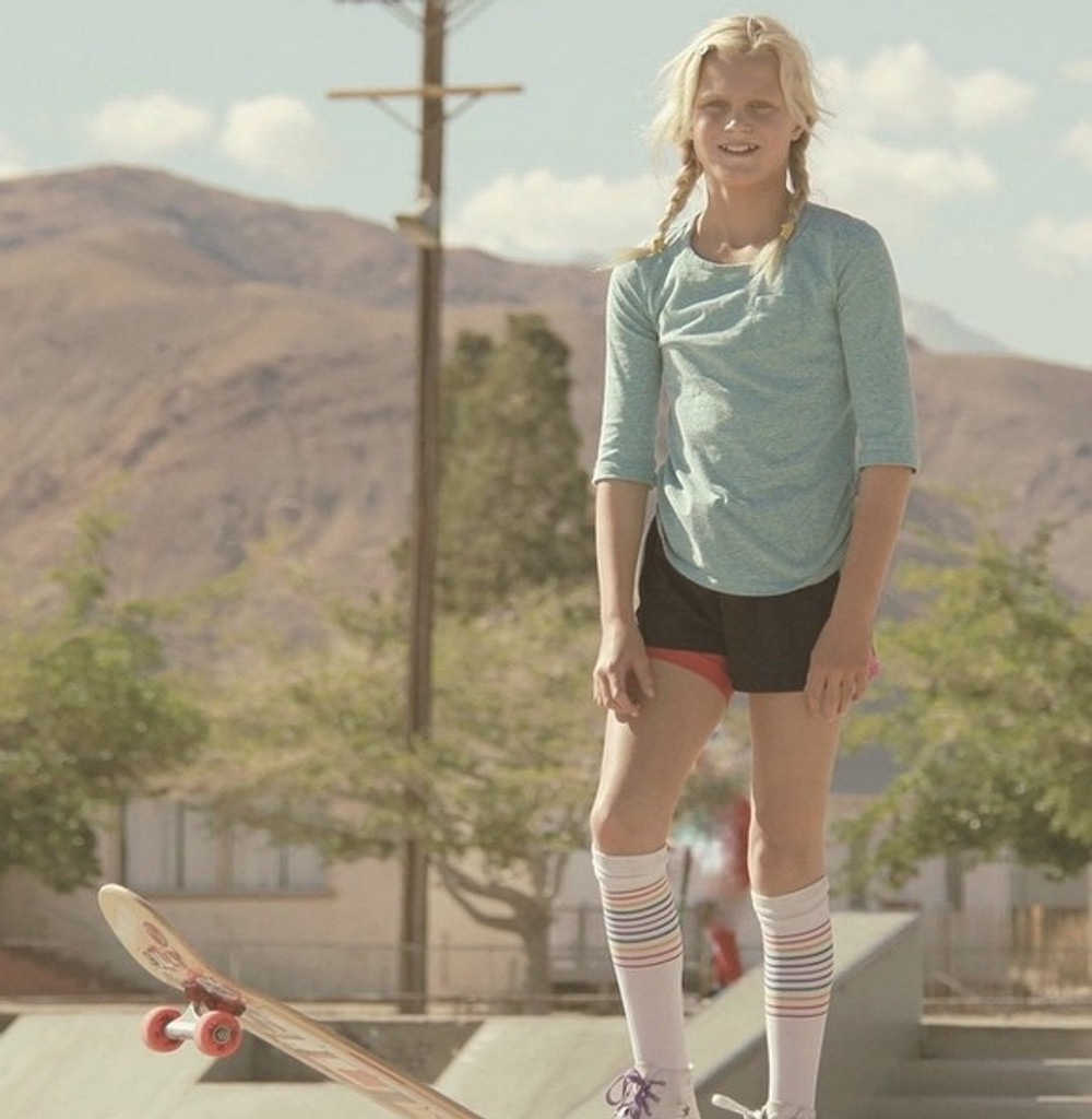 pro skater bryce wettstein loves her pride socks compression socks.