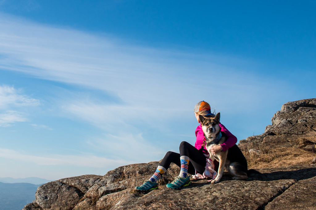 when skys the limit, go hiking and feel free in your pride socks