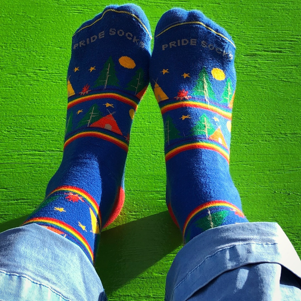 where will you travel when you pull up your rainbow wanderlust prides socks
