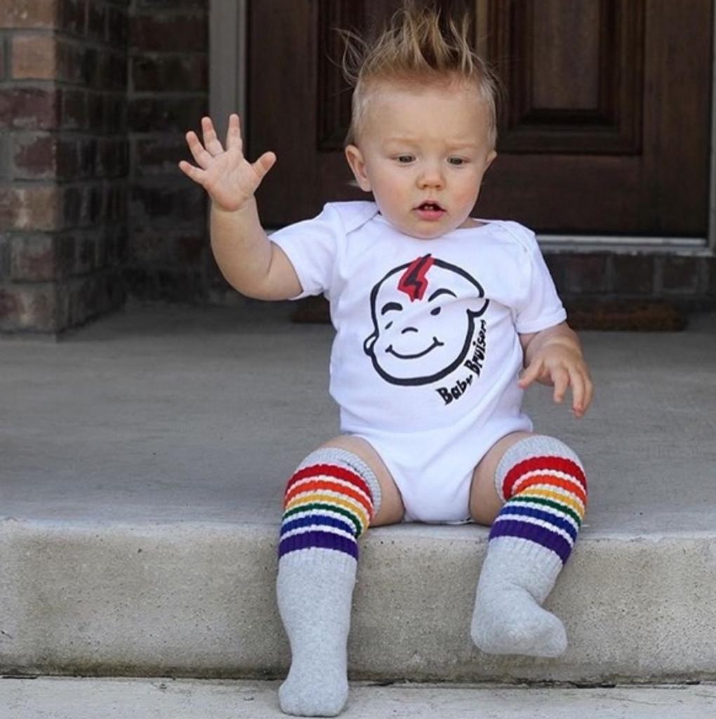 oh heeeeey!  its me over here wearing my rainbow happy tube pride socks