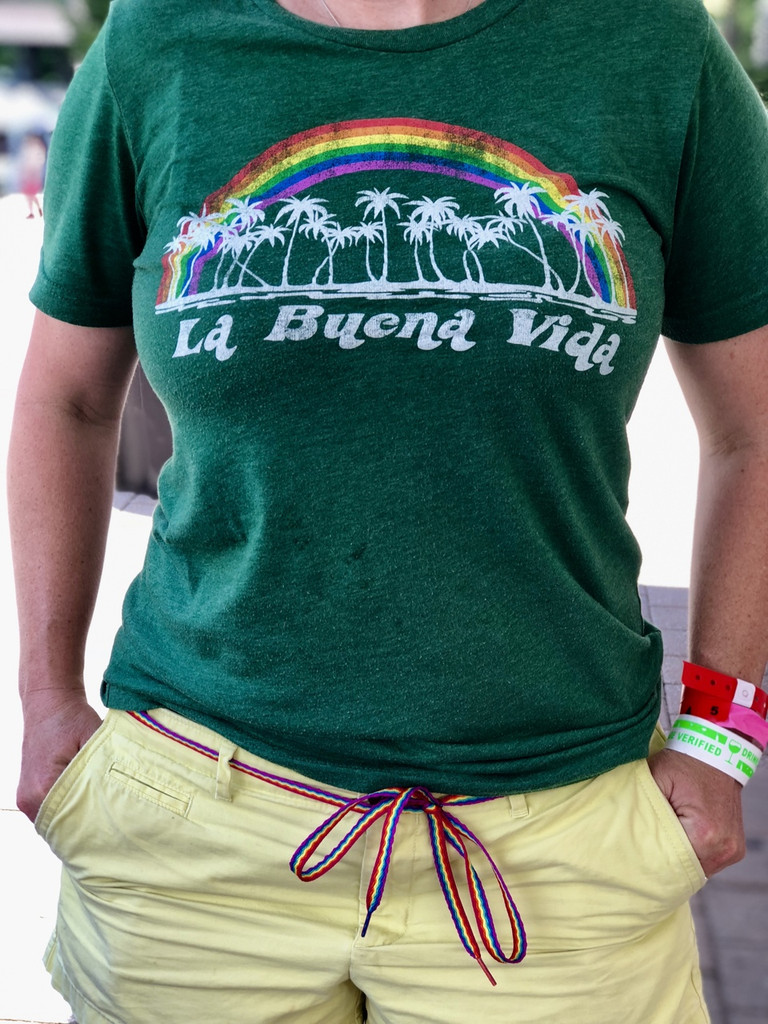 you can also wear your rainbow shoe laces as a rainbow belt