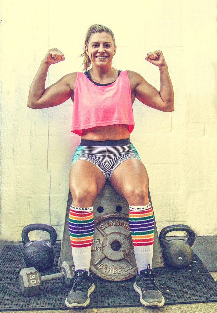 girls are strong.  be proud of who you are and wearing your pride socks to show off your love for life.