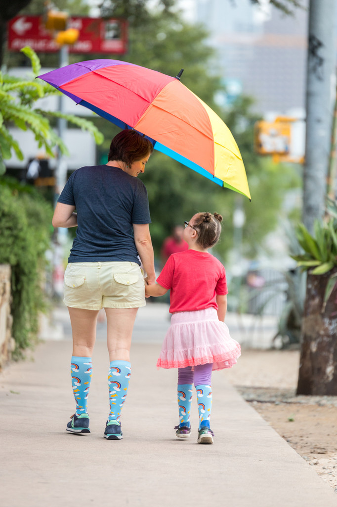pride socks and rubys rainbow are proud of their dream big sock to help those with Down syndrome to attend college.