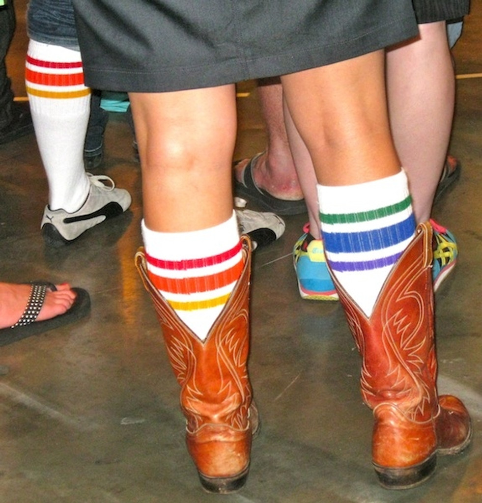 our pride socks are loved when wearing your cowgirl boots