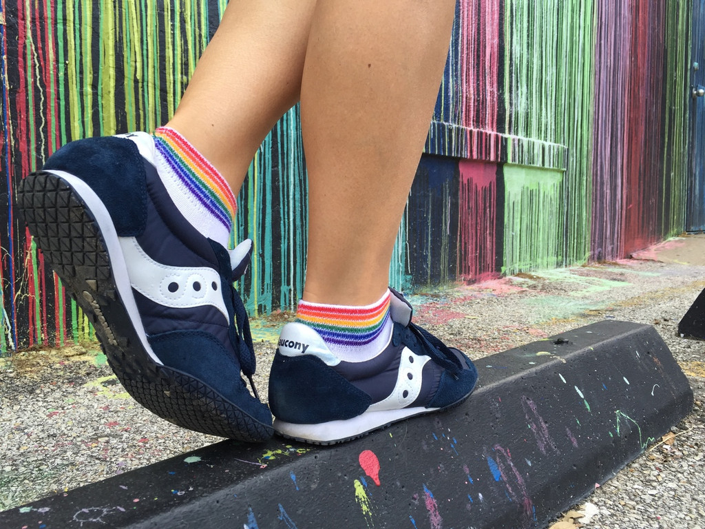 find balance in your life when looking for the best athletic rainbow pride socks.
