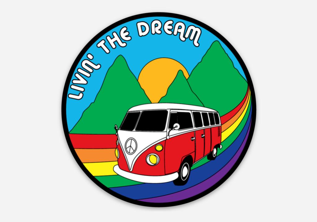 Livin the Dream Sticker