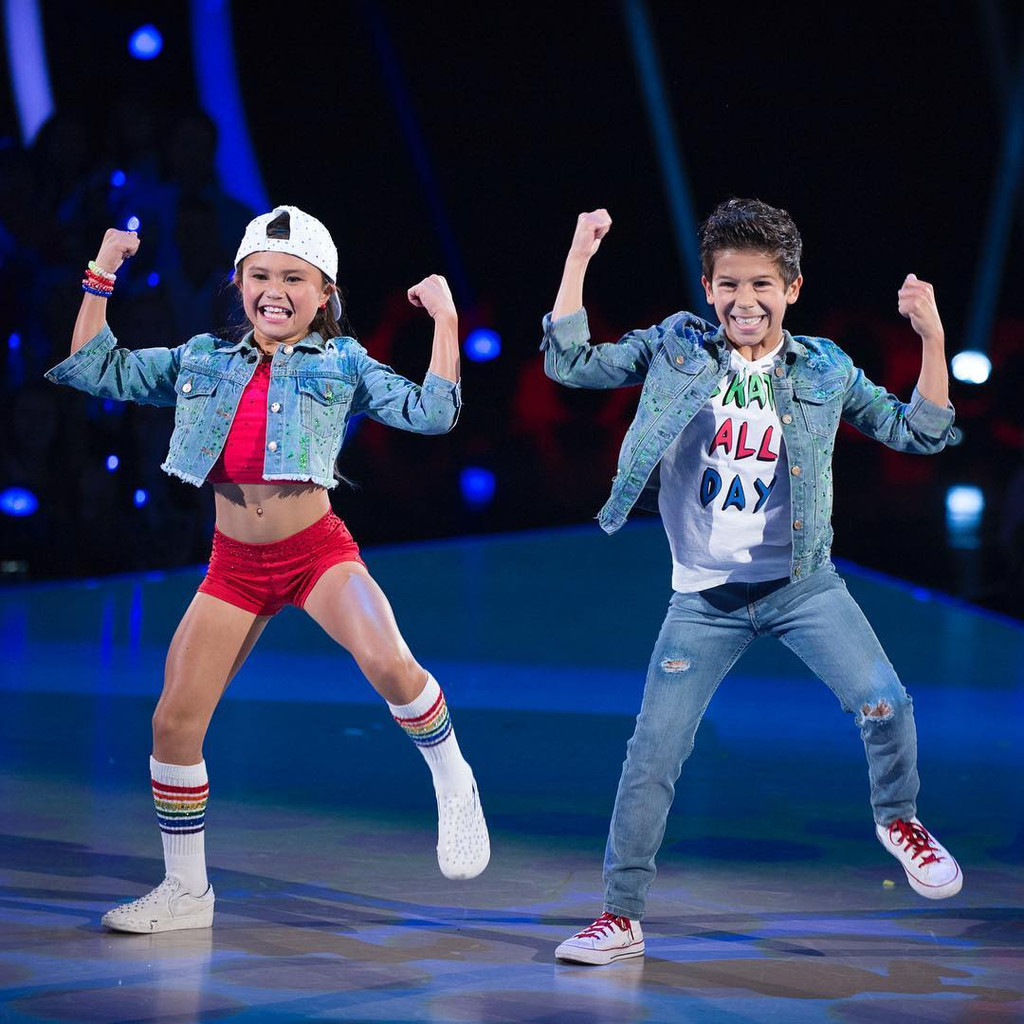 sky brown wearing prides socks during the dance off with dancing with the stars.
