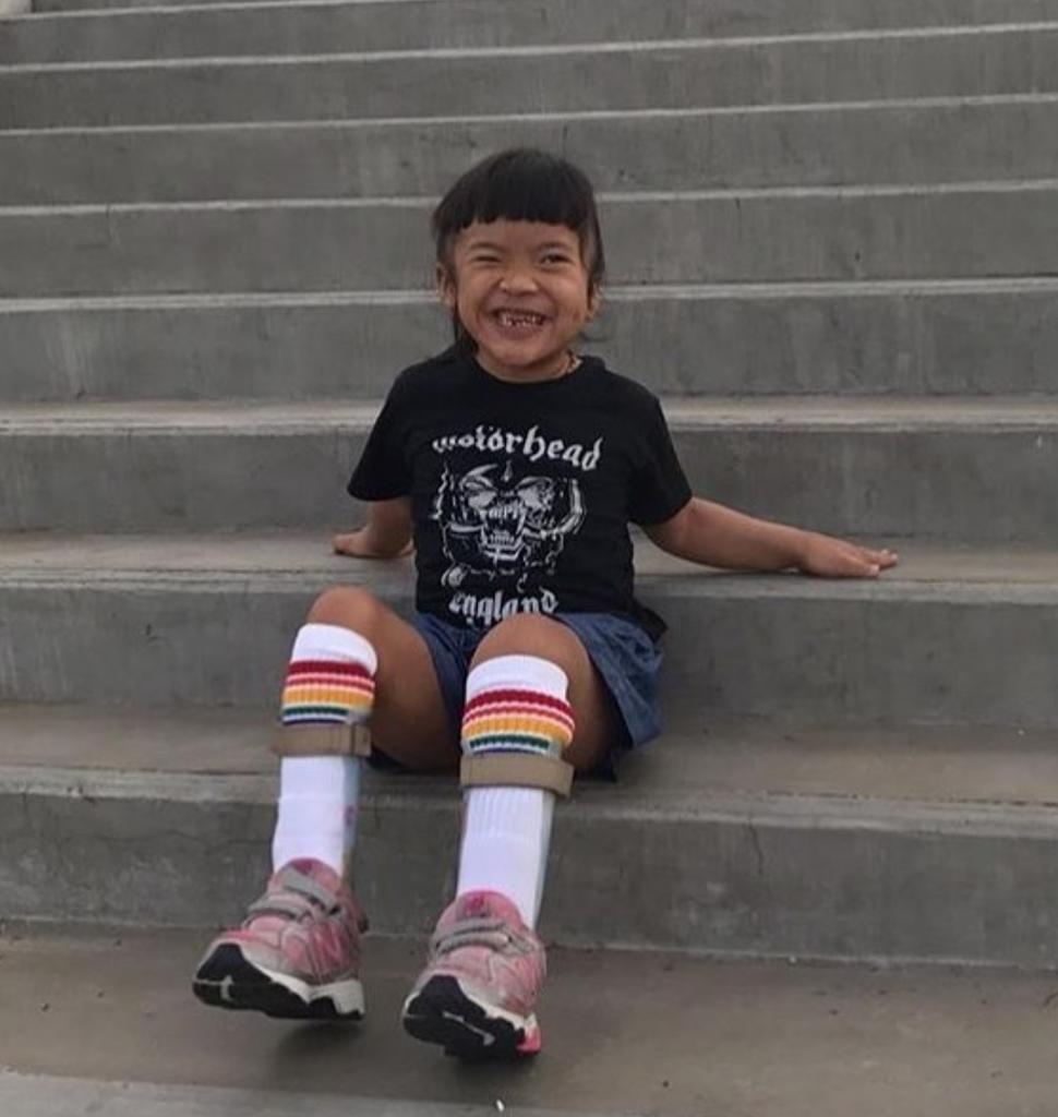 i feel so included when I can wear my rainbow tube socks with my afo braces