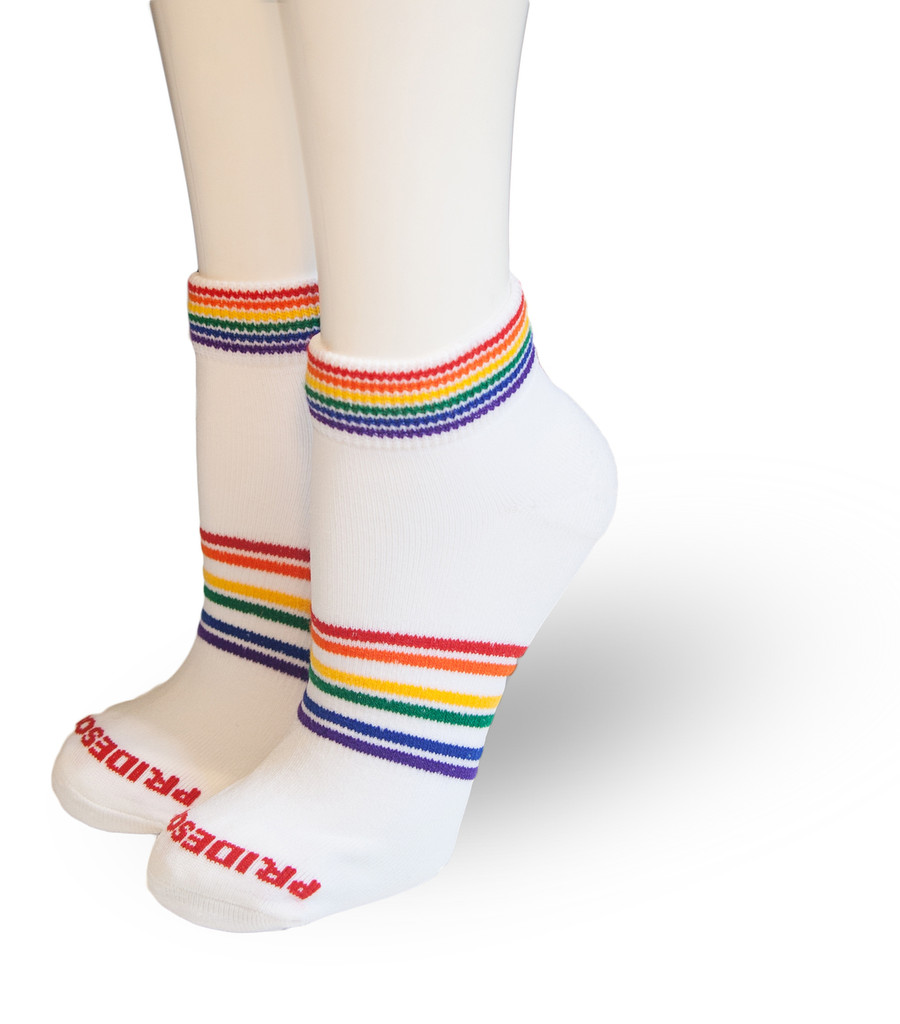 Pride socks athletic wicking socks are perfect for running, cross fit, tennis, golf or for fashion wear.