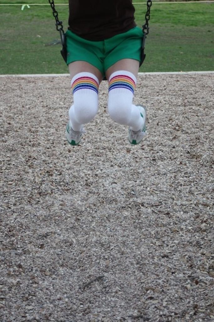 swinging pride socks