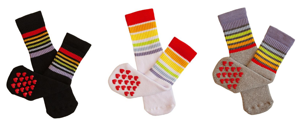 get all three pairs of pride socks nonslip toddler rainbow socks made in italy but sold in austin, tx