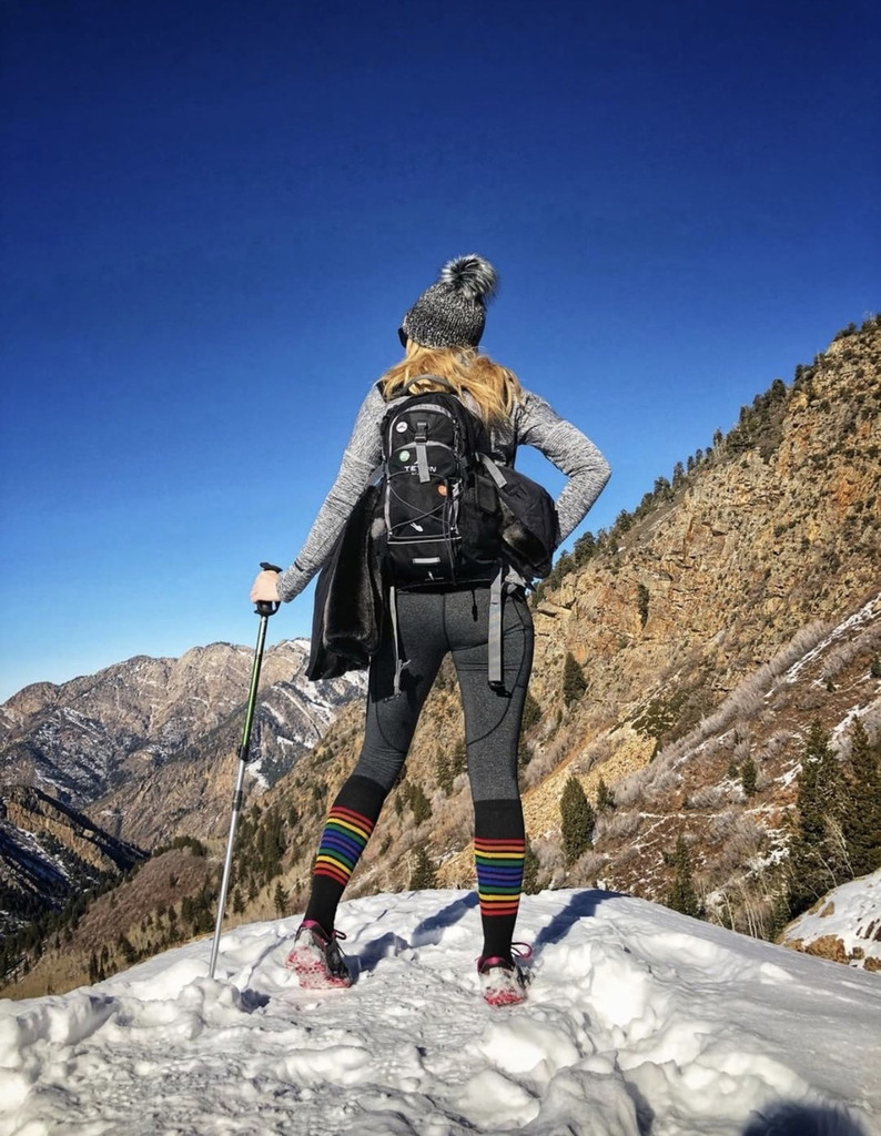 go for a hike in the mountains and feel secure our pride socks compression socks will be the perfect athletic sock you will need.