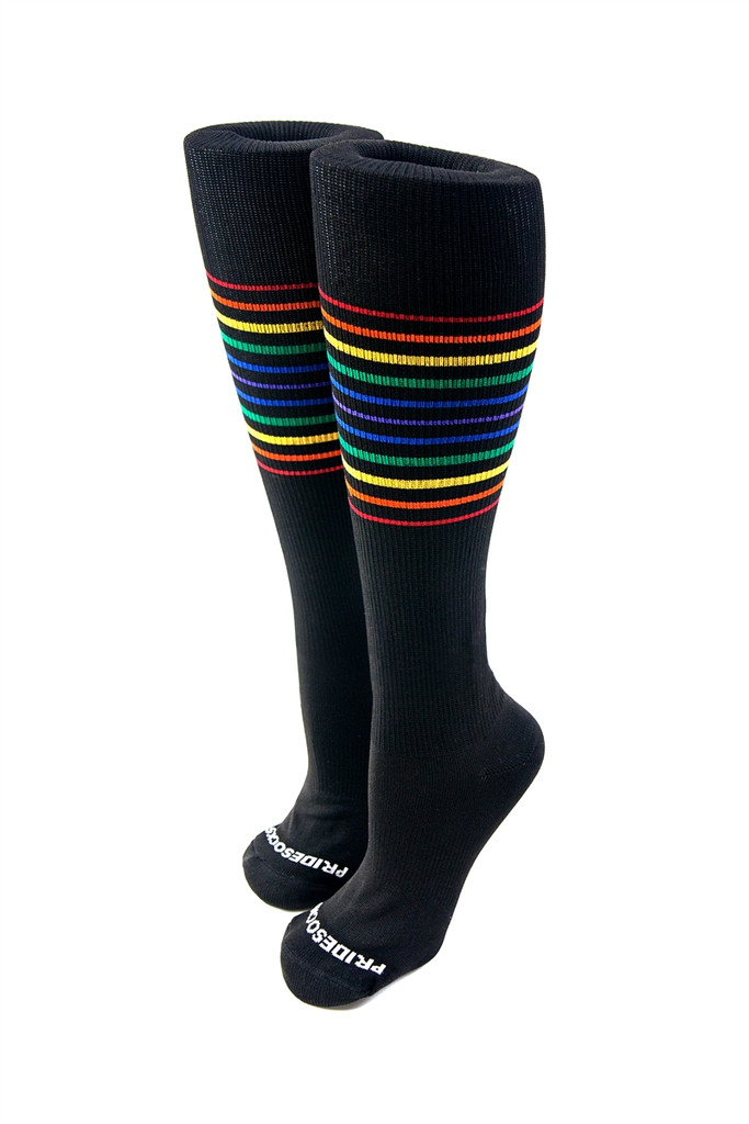 black compression pride socks are voted to be the most comfortable athletic socks.