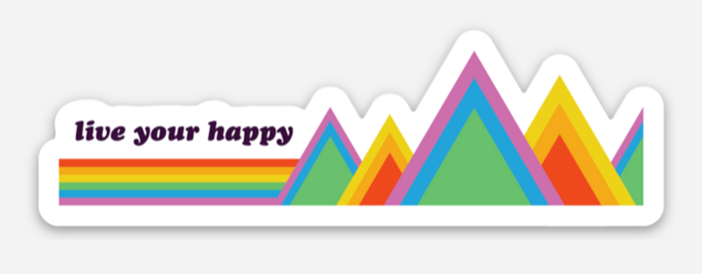 live your happy no matter where you are.  be proud with your pride socks sticker