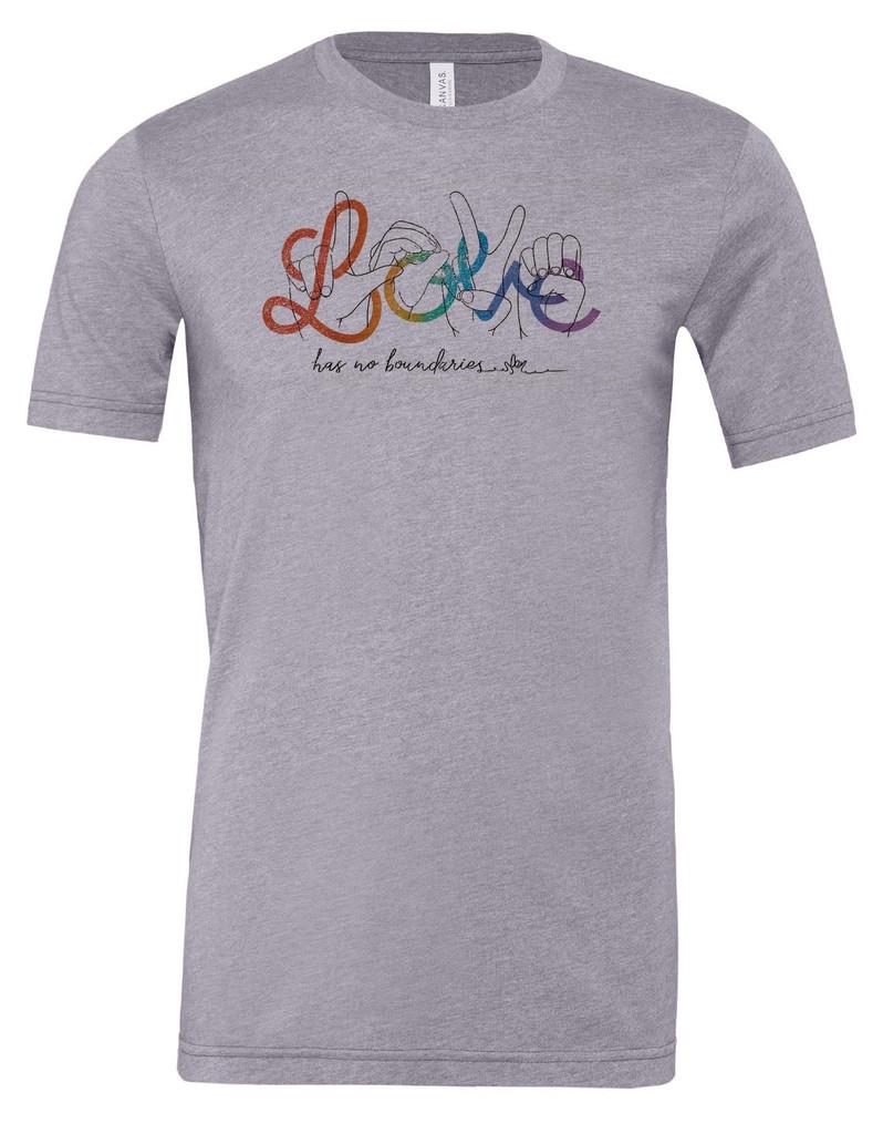 love has no boundaries pride socks austin texas