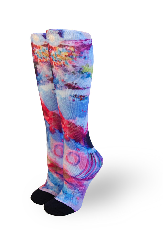 Pride socks artist series name Ethereal.  bringing artist together to celebrate all of humanity