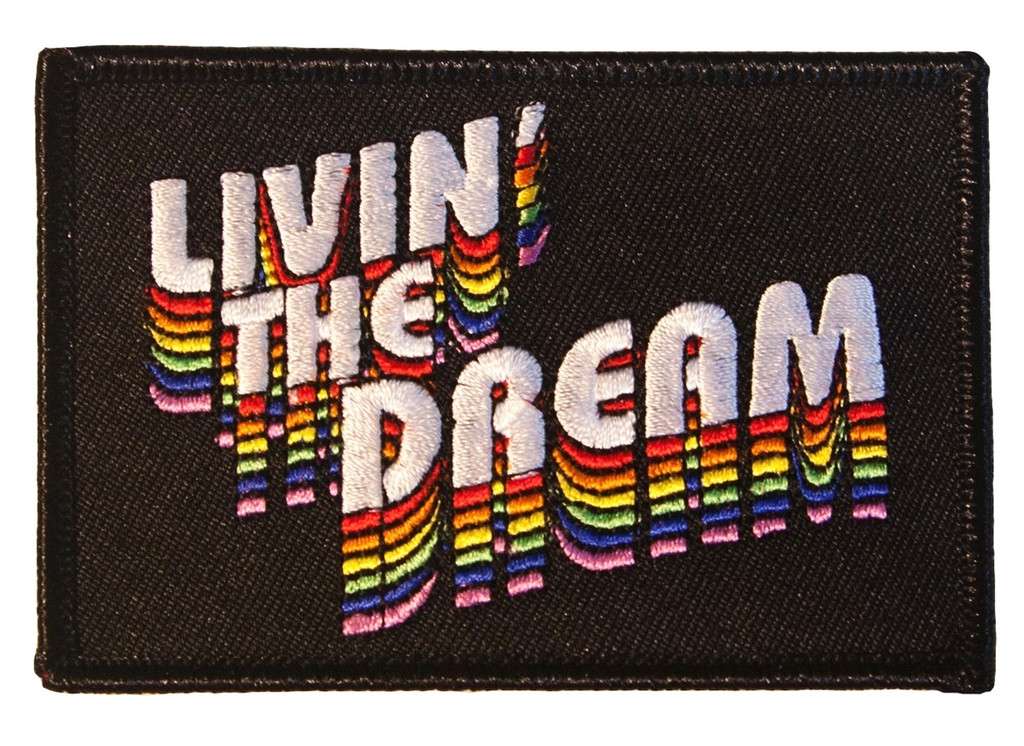 pride socks living the dream path.  put it on your jacket, shirt or hat.