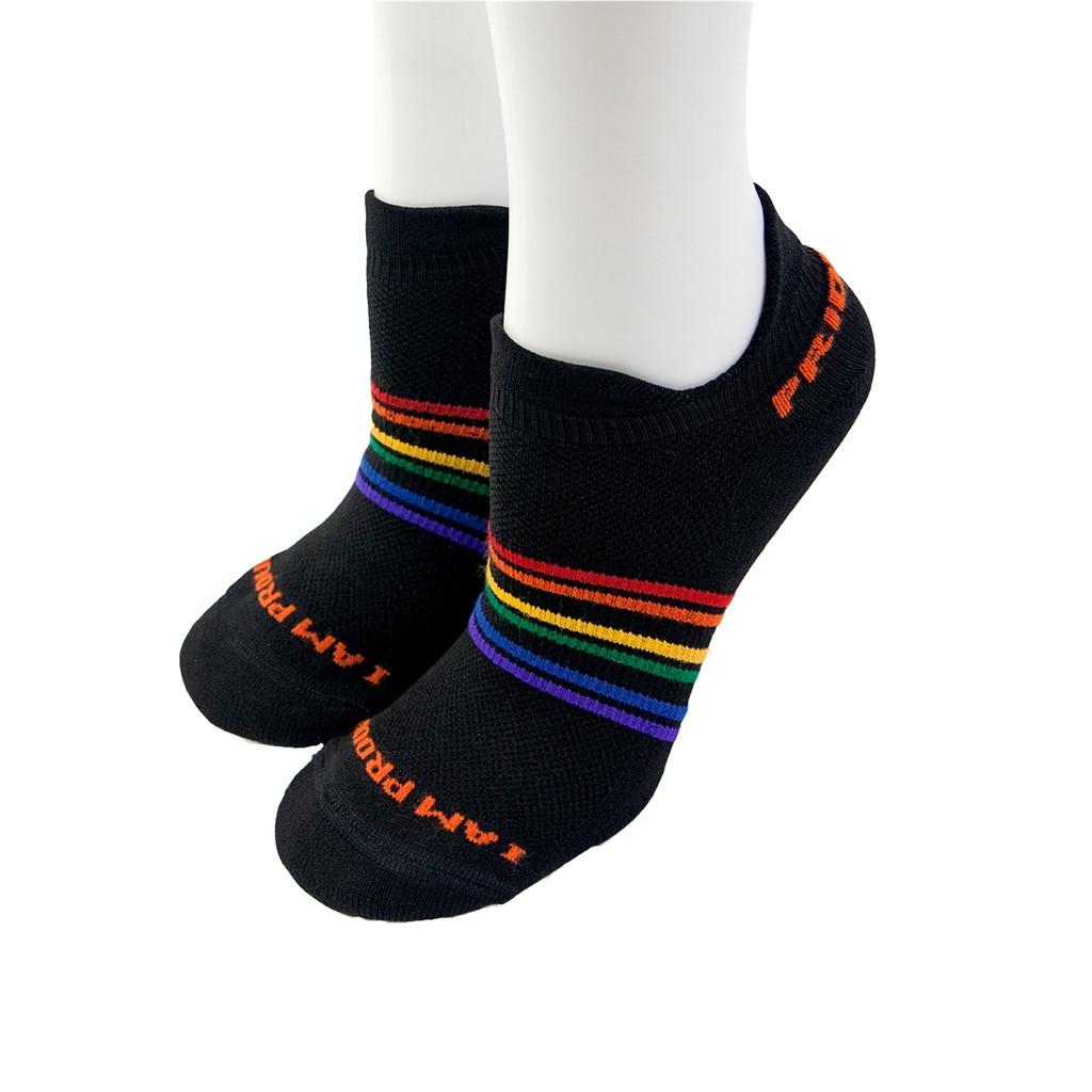 black no show moisture wicking pride socks