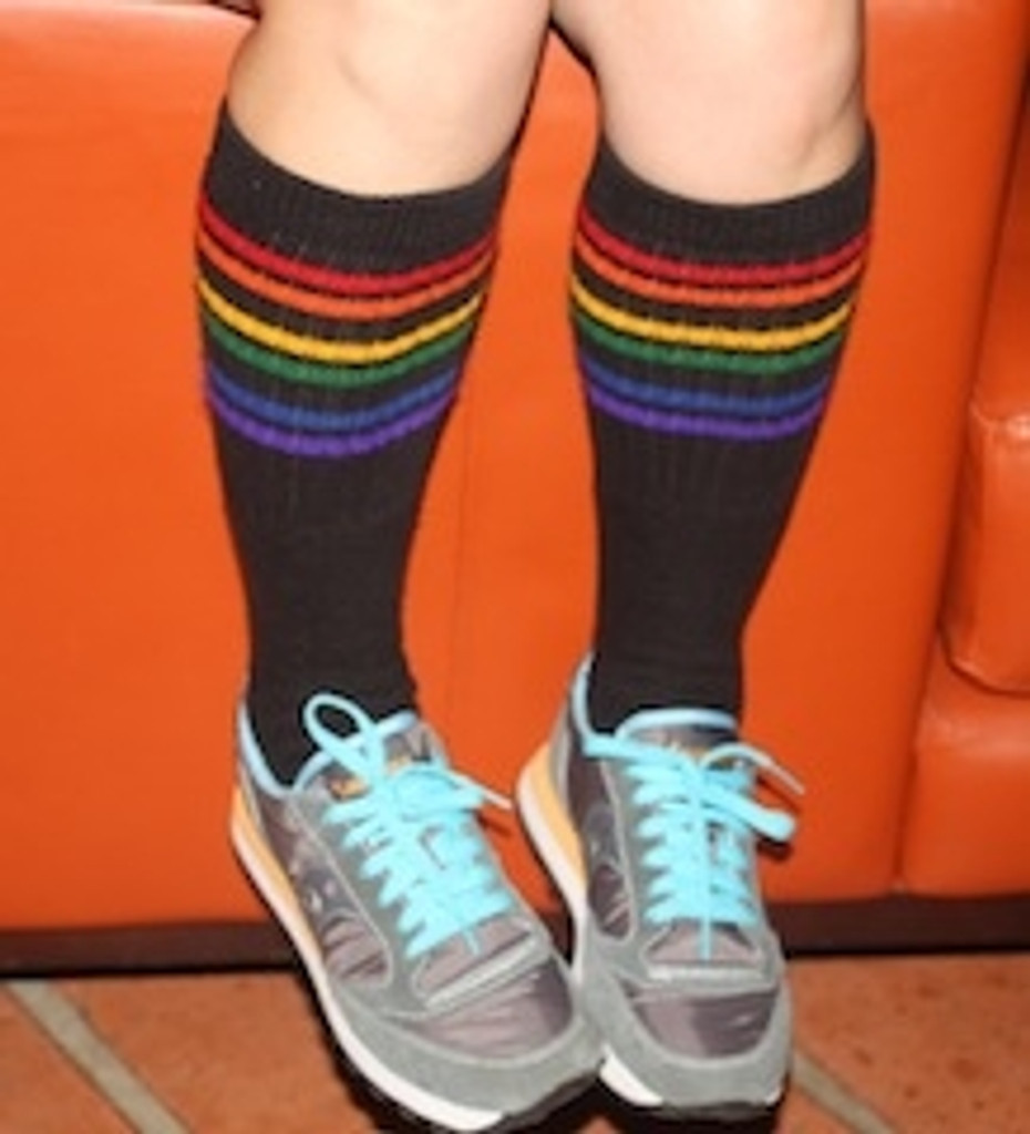 its cool when you hang out with your pride socks