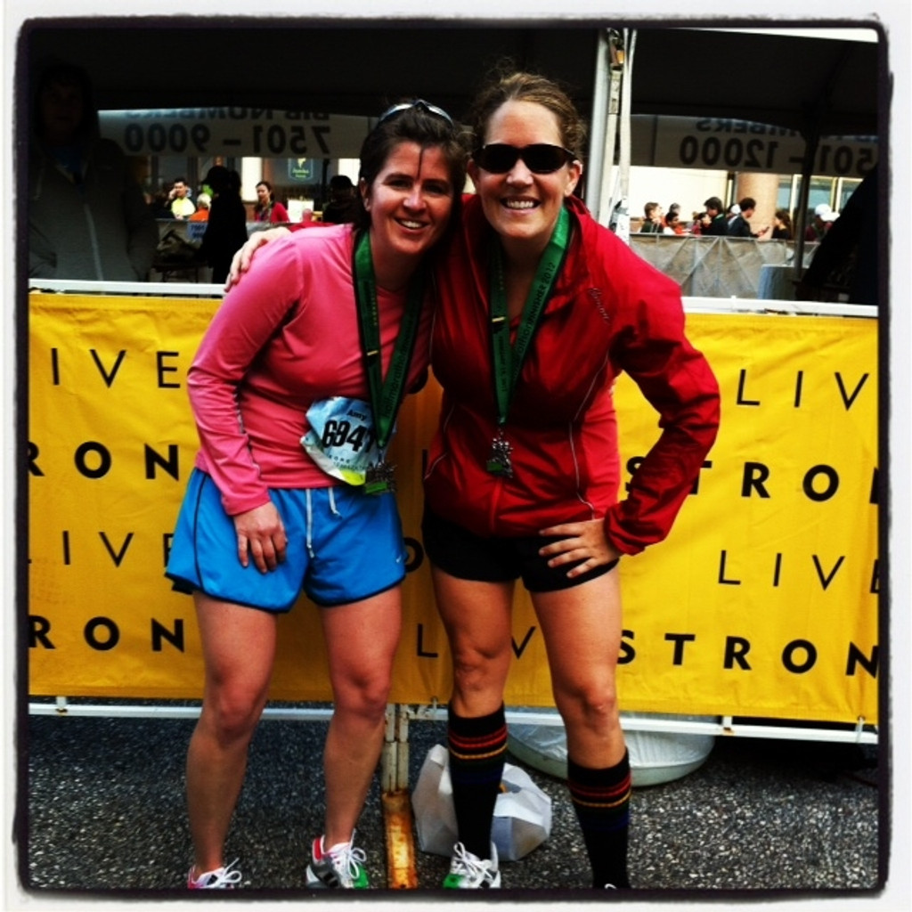 you can even run a half marathon in your black under the knee pride socks