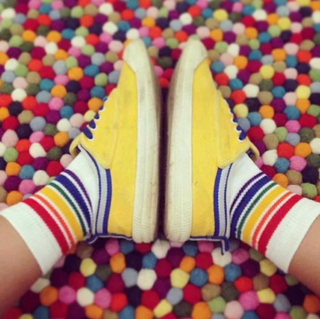rainbows upon rainbows with your pride socks