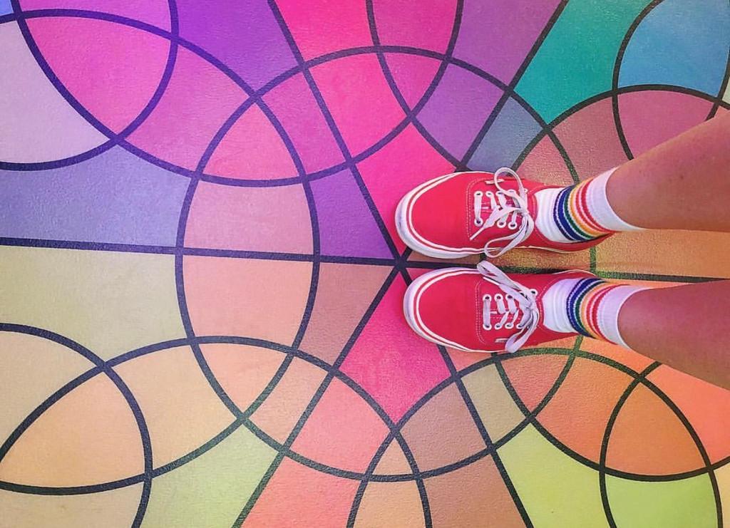 art and pride socks go together