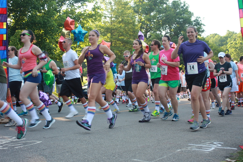 when you get a whole 5k race to wear your pride socks, that is called living the dream