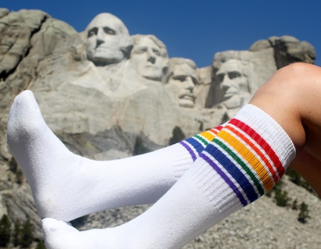 the united states presidents are sure smiling with me while i proudly wear my pride socks