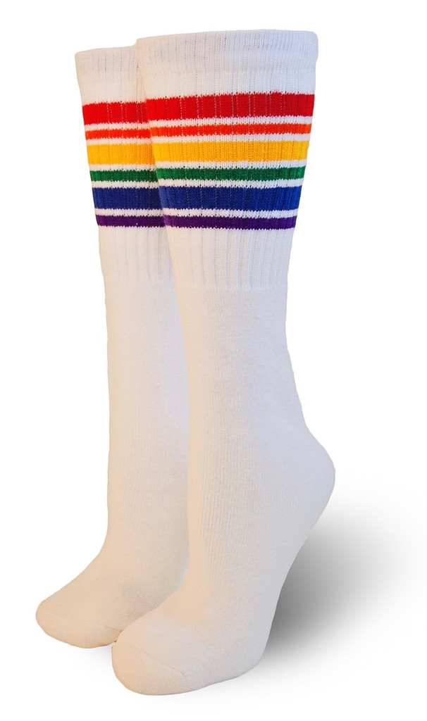 classic under the knee pride socks