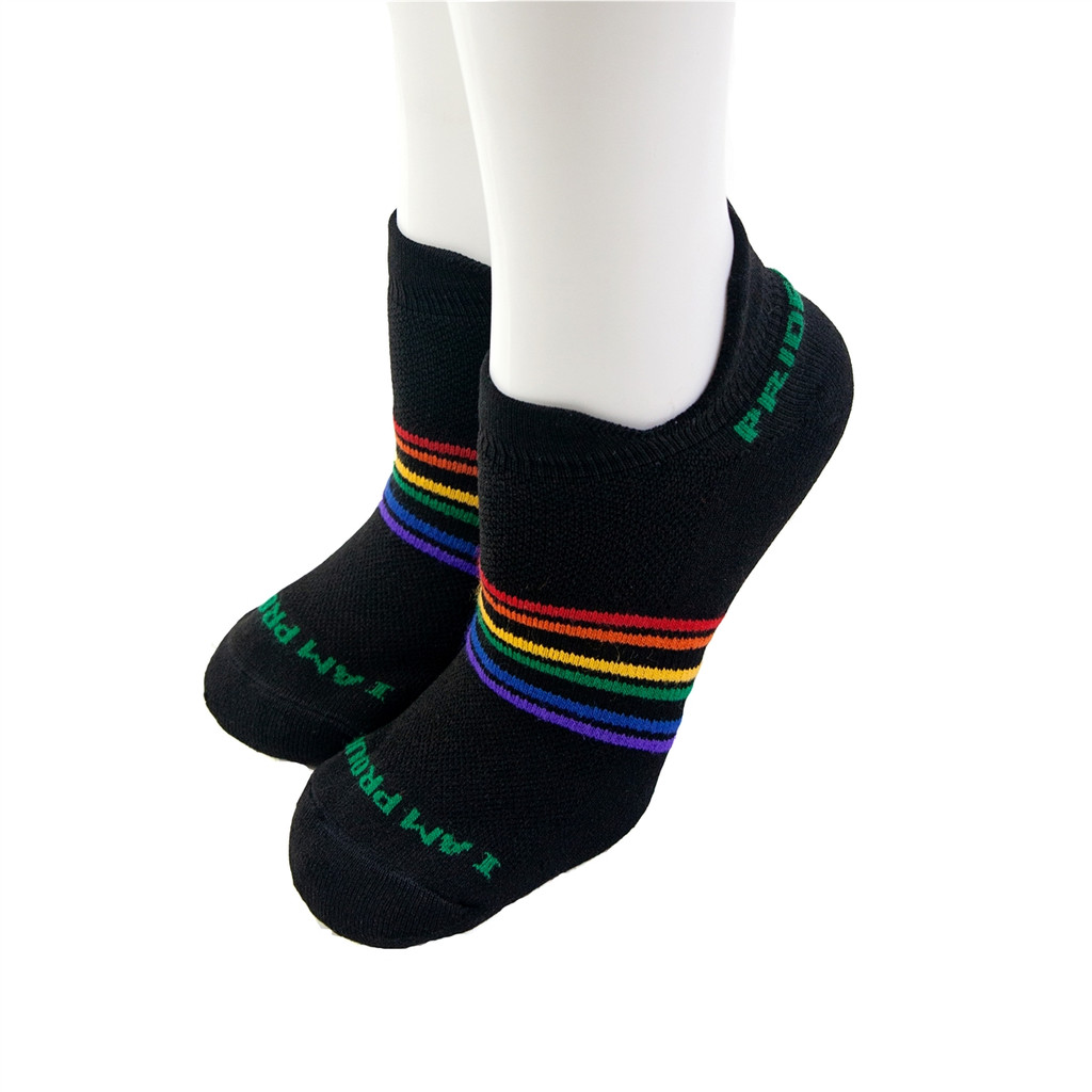 our athletic no show pride socks will take care of our feet while you take care of your body while exercising.