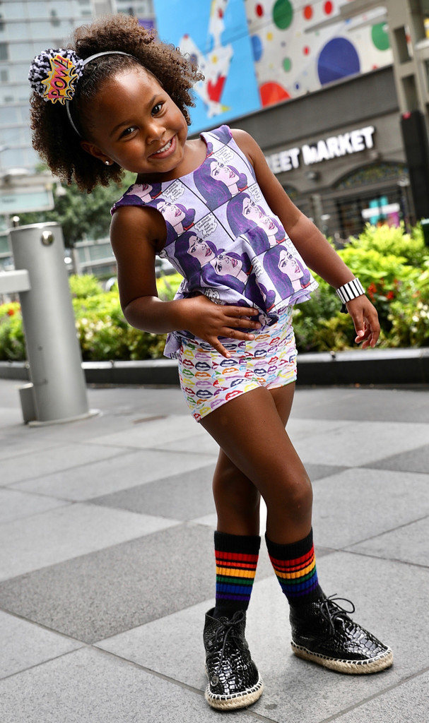rocking out with your rainbow pride socks