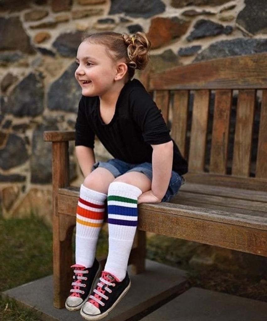 one of my favorite past times is people watching while wearing my pride socks.  people love them too.