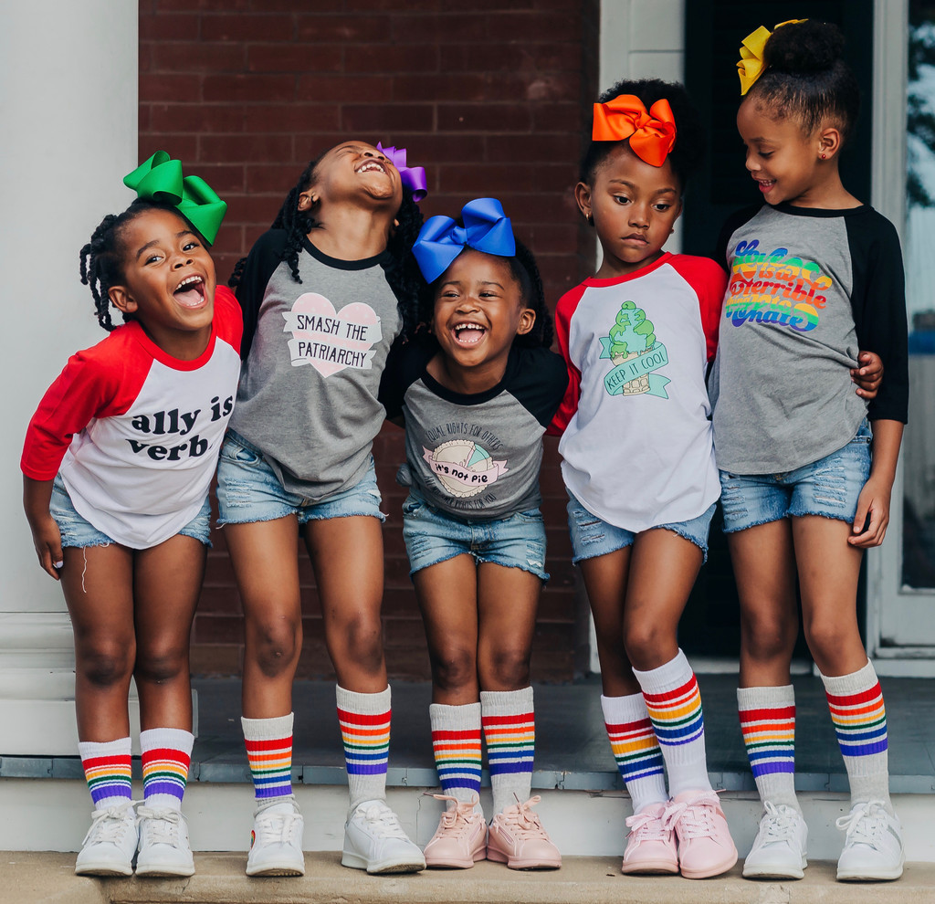 hang out with your friends while you all wear the pride socks