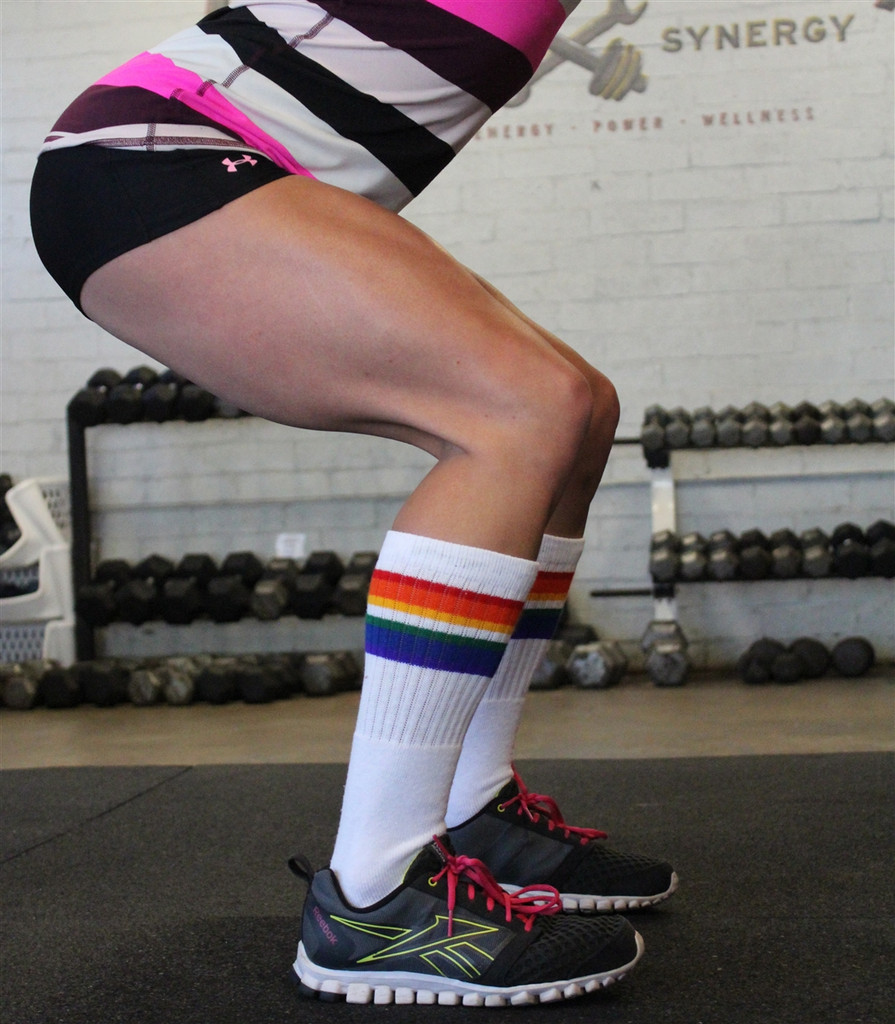 i work out in my pride socks