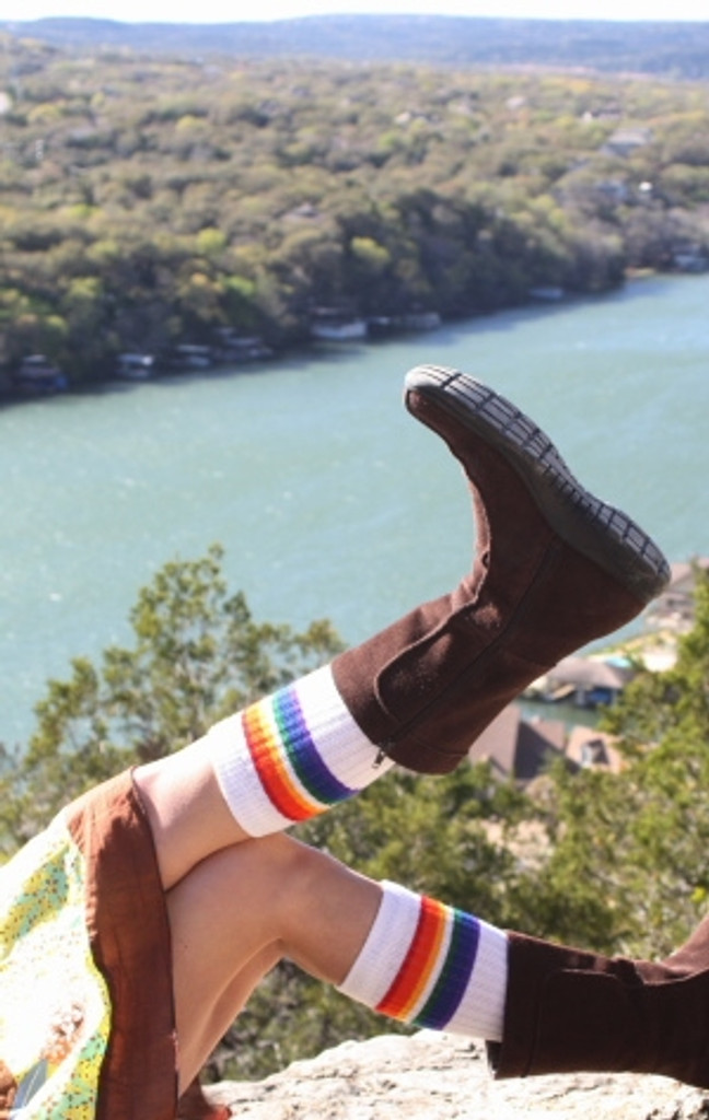 i feel the best when i am relaxing in the sun with my pride socks in the air