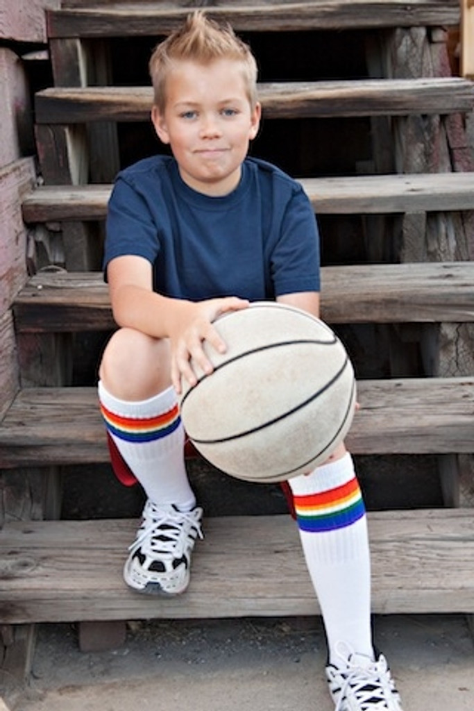 when i rock out my old school basketball socks my moves on the court are unbelievable.
