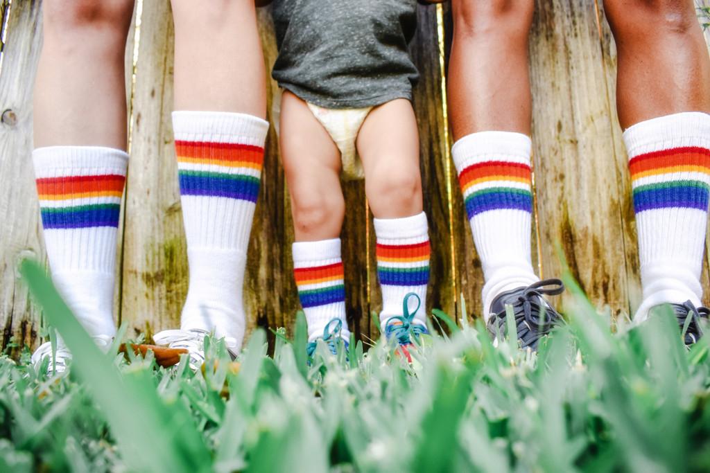 family pride socks love is love rainbow tube socks