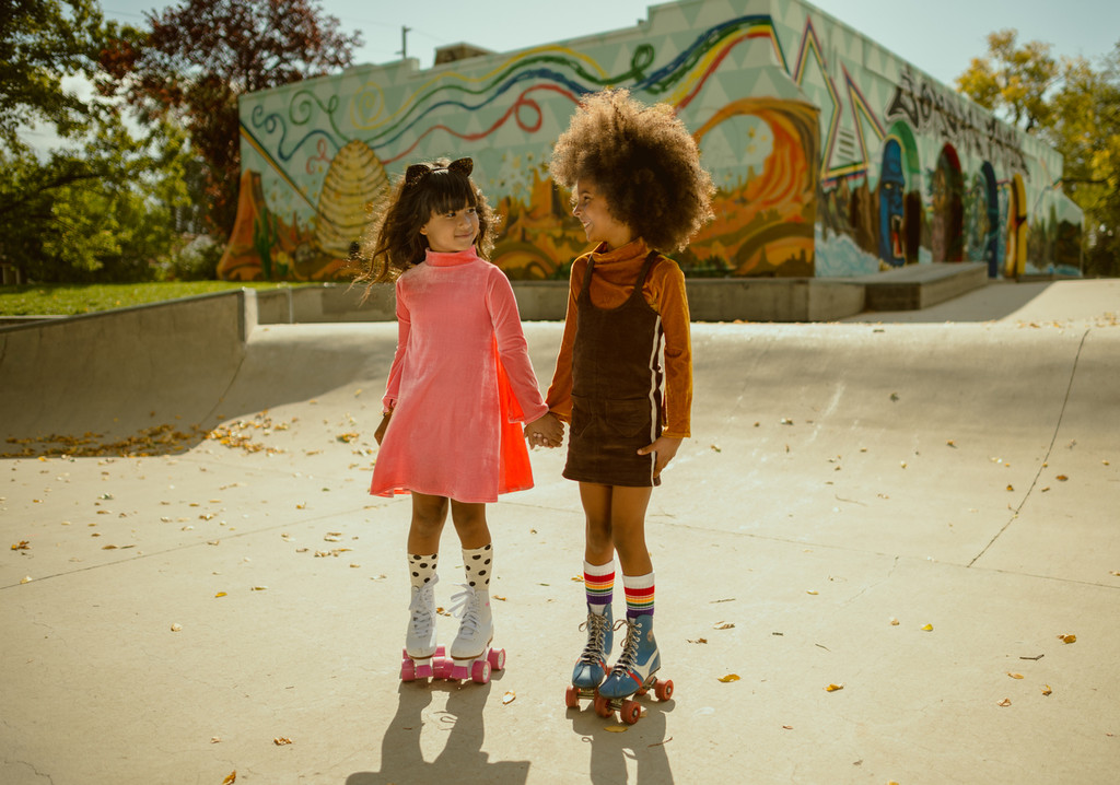 take your best friend on all your adventures.  make sure to put on your adventure old school tube socks with your skates to ensure a good time.