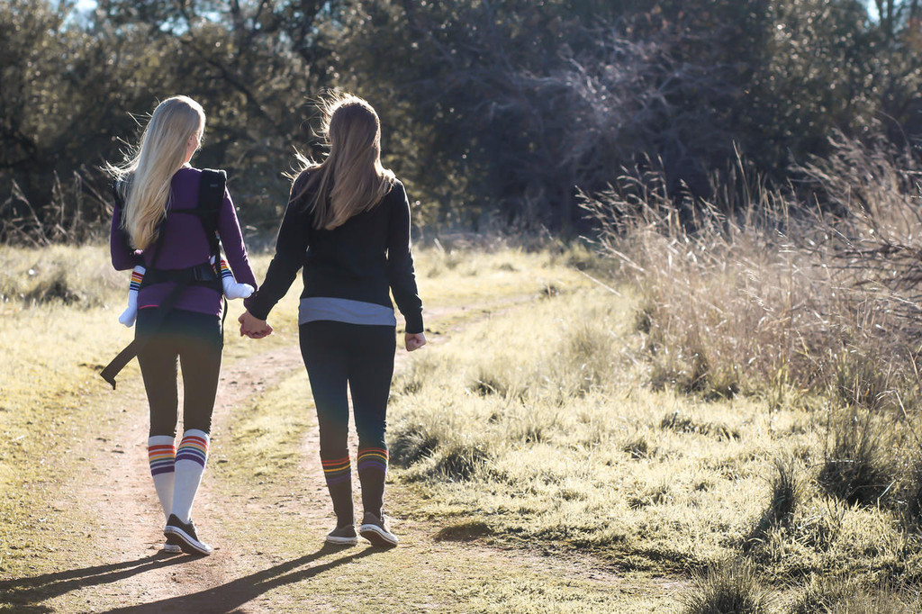 show off your love with matching pride socks and head outside for some quality time as a family.