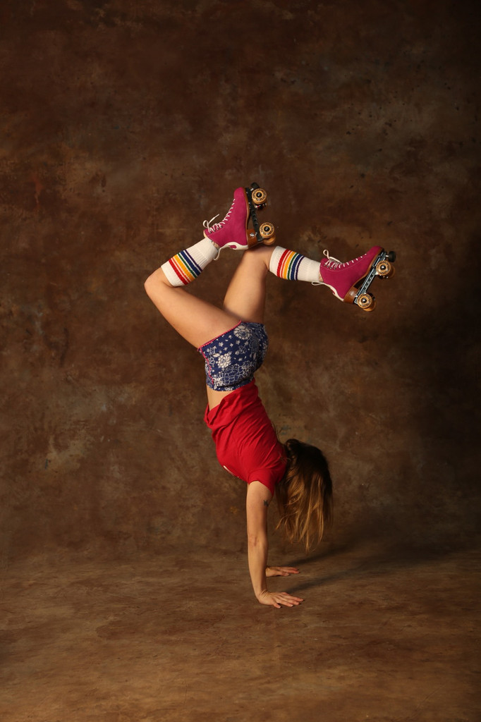 moxie skates and pride socks are a match made in heaven