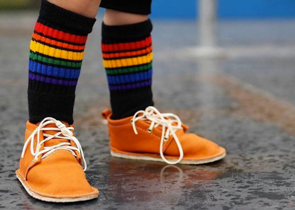 when brave tube socks meet fashion.