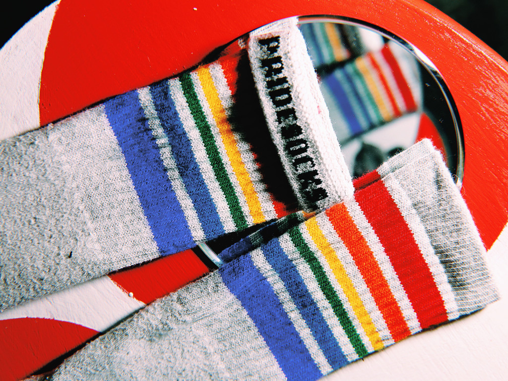 you are a reflection of who you are and be proud of who you are pride socks.