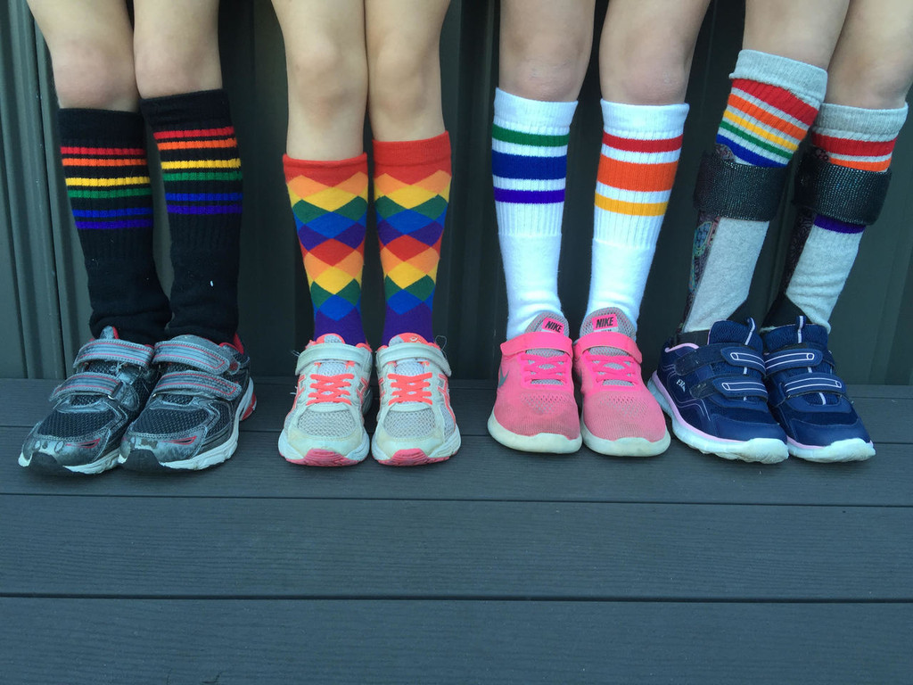 When you and your friends all get pride socks.  this is the cool gang.